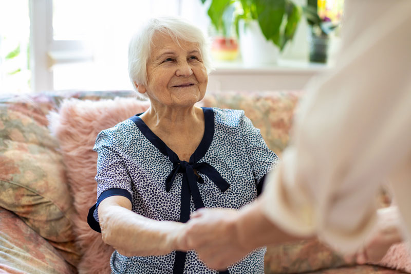 image of smiling memory care resident
